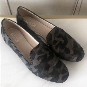 Cole Haan Camo Calf Hair Flats Loafer Shoes